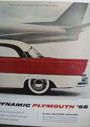 Plymouth Belvedere 4 door Hardtop Sport Sedan. 1955 Ad.