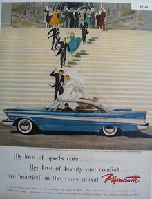 Plymouth Car At Wedding 1957 Ad