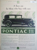 Pontiac Big Six 1930 Ad.