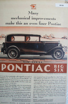 Pontiac New Series Big Six Car 1930 Ad