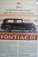 Pontiac New Series Big Six Car 1930 Ad