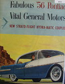 General Motors 56 Pontiac 1955 Ad.