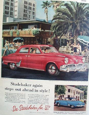 52 Studebaker State Commander 1952 Ad
