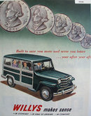 Willys Makes Sense 1951 Ad