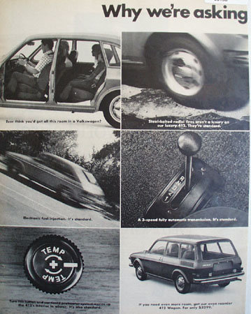 Volkswagen 412 Luxury Family Sedan 1972 Ad
