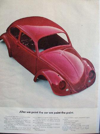 Volkswagen Paint 1965 Ad