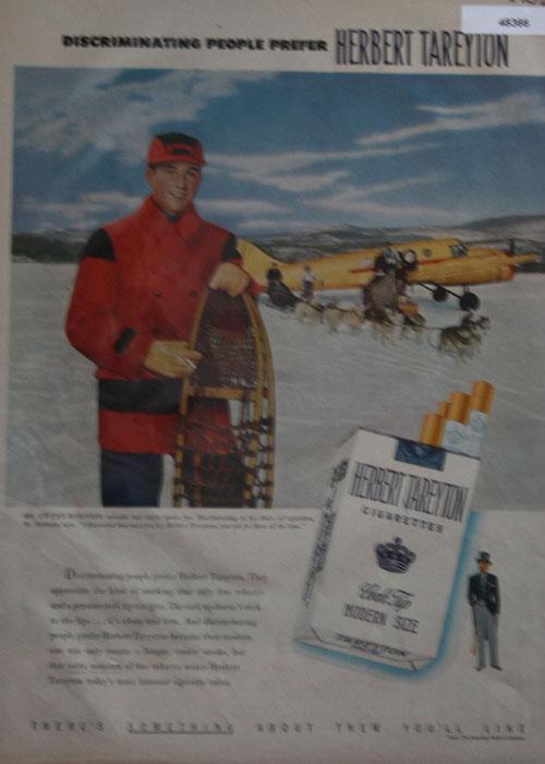 Herbert Tareyton Cigarettes 1952 Ad.