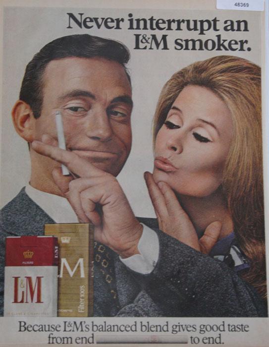 L&M Cigarettes 1968 Ad.