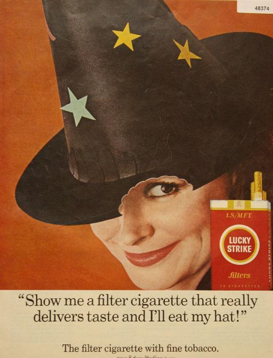 Lucky Strike Filter Cigarette 1966 Ad