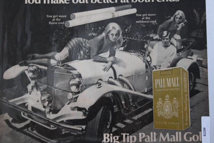 Pall Mall Cigarette 1968 Ad