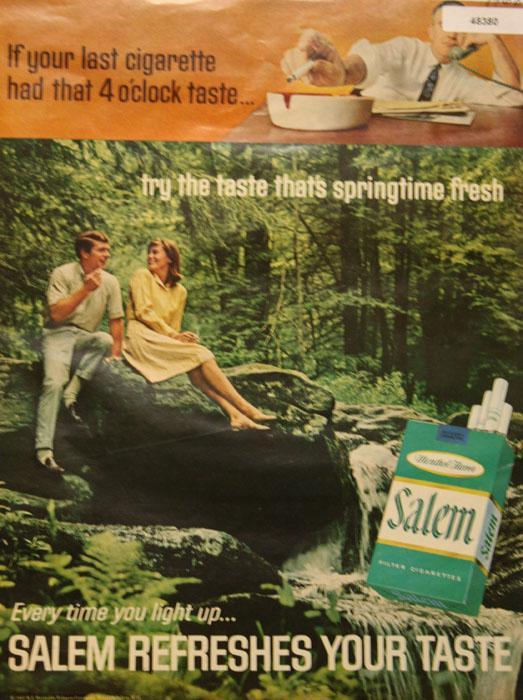 Salem  Menthol Cigarette 1968 Ad