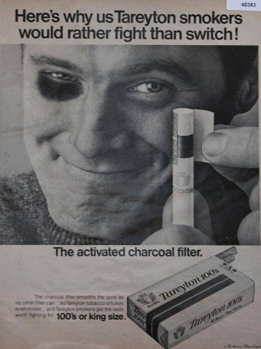 Tareyton 100s Cigarettes 1968 Ad.