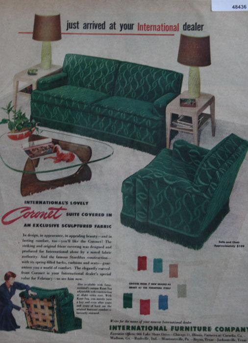 International Furniture Co. 1950 Ad