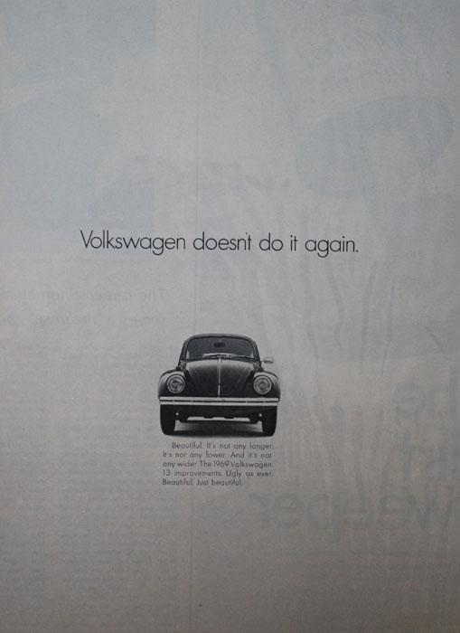 Volkswagen Bug 1968 Ad