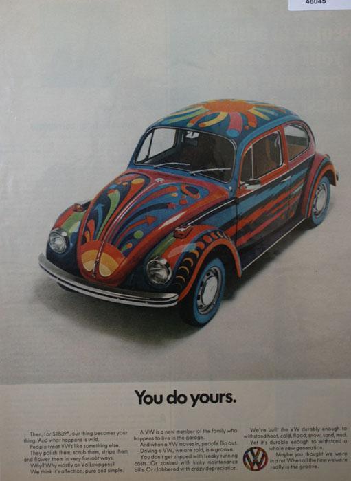 Volkswagen Bug 1970 Ad