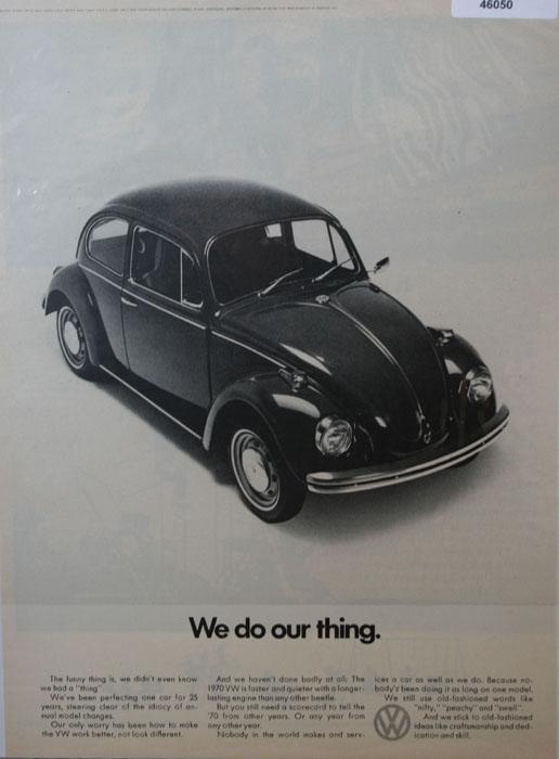 Volkswagen Bug 1970 Ad.