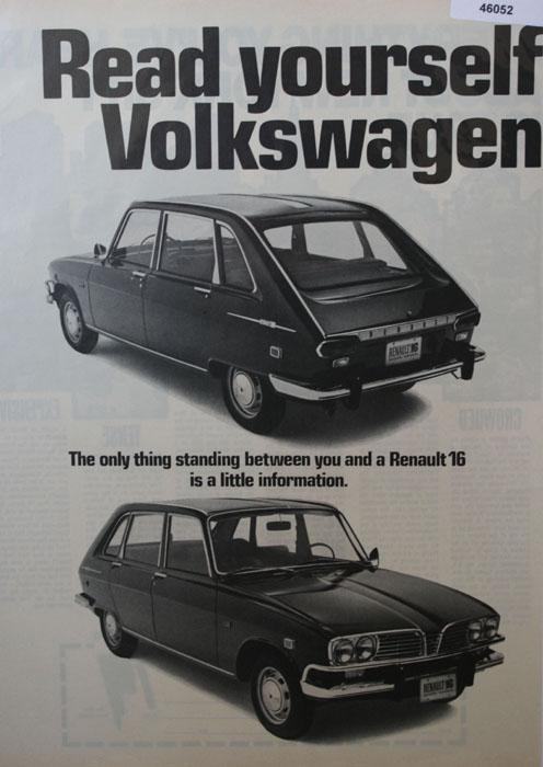 Renault 16 Car 1970 Ad