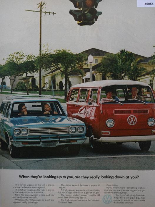 Volkswagen Station Wagon 1970 Ad.