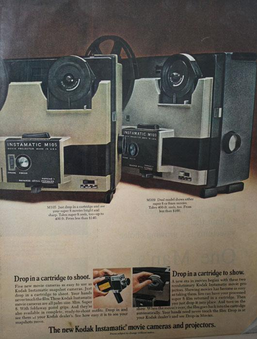 Kodak Drop in Movies 1970 Ad.