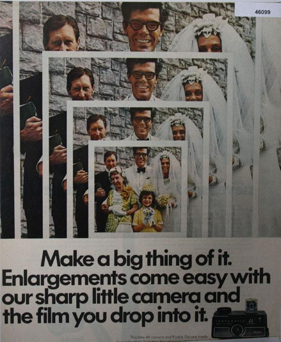 Kodak Instamatic 44 Camera 1970 Ad