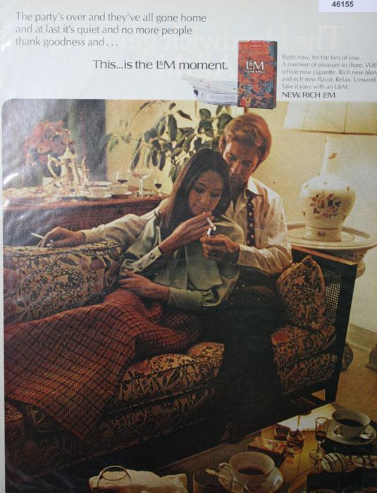 L&M Filter King Cigarettes 1970 Ad