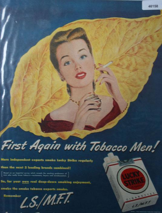 Lucky Strike Cigarettes 1949 Ad