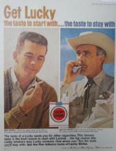 Lucky Strike Cigarettes 1962 Ad