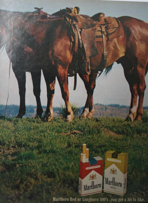 Marlboro Reds or Longhorn 100s 1970 Ad