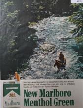 Marlboro Menthol Green 1966 Cigarette Ad.