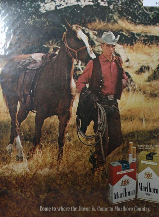 Marlboro Red And Longhorn 100s 1970 Cigarettes Ad.