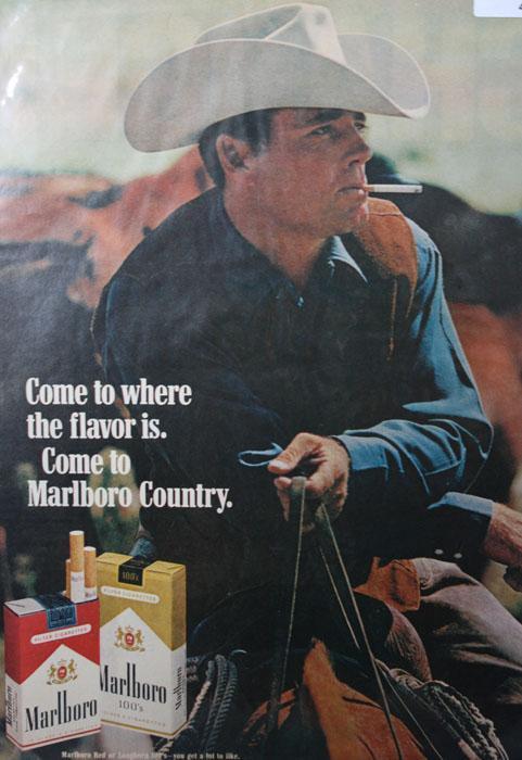 Marlboro Cigarettes 1970 Ad.