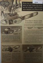 Sears Chain Saw 1967 Ad