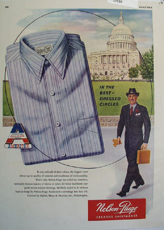 Nelson Paige Shirts Best Dressed Circles Ad 1947