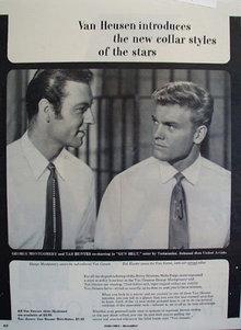 Van Heusen Geo Montgomery Tab Hunter Ad 1953