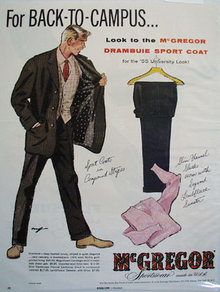 McGregor Sportswear Back To Campus Ad 1955