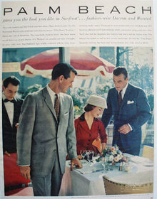 Palmbeach Tailored Suits Fashion Wise Ad 1957