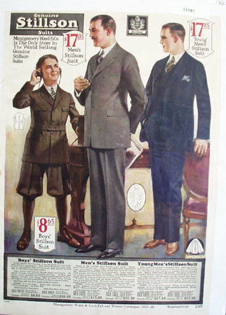 Montgomery Ward Stillson Suits Ad 1925