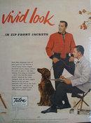 Talon Fastener Vivid Look Ad 1955