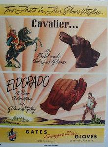 Gates Gloves Cavalier Ad 1953