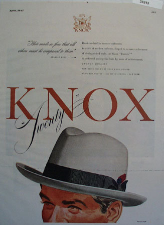 Knox The Hatter The Twenty Ad 1947