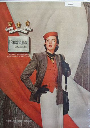 Forstmann Womens Suit Ad 1946