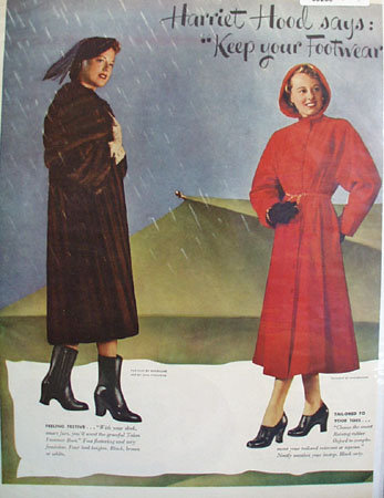Hood Rubber Co Footstep Fashions Ad 1949