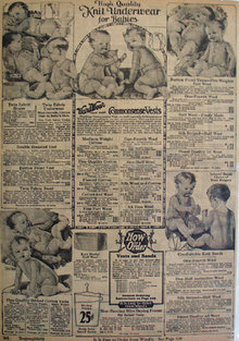 Montgomery Ward Underwear For Babies Ad 1925