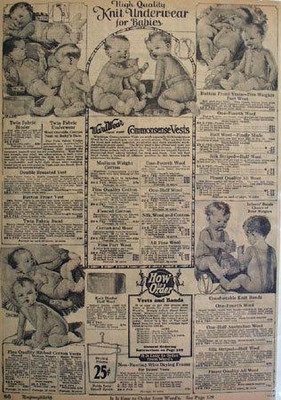 Montgomery Ward Underwear For Babies Ad 1925