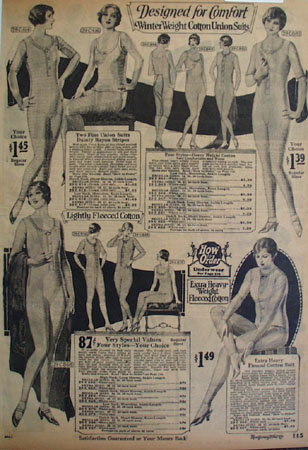 Montgomery Ward Winter Wt. Ladies Union Suits Ad 1925