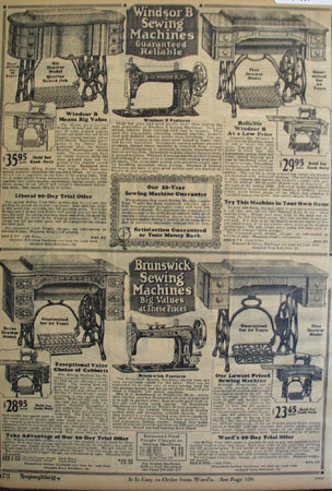 Montgomery Ward Sewing Machines 1925 Ad