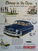 Mercury Golf Scene 1950 Ad