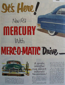 Mercury Merc-O-Matic Drive 1950 Ad