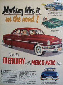 Mercury Nothing Like It 1950 Ad