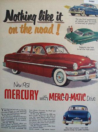 Mercury Nothing Like It 1950 Ad